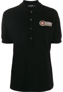 Dsquared2 Camisa Polo Com Logo - Preto