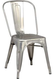 Cadeira Iron Sem Braço Vintage Aço Rivatti Móveis Cinza