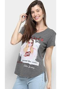 Camiseta Coca Cola Coke Jeans Feminina - Feminino-Mescla Escuro