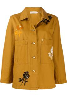 Tory Burch Button-Up Jacket - Marrom