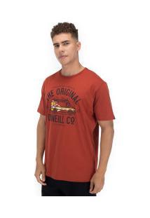 Camiseta O'Neill Estampada Vanster - Masculina - Vinho