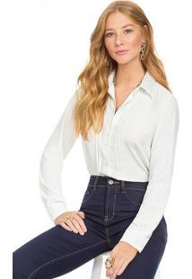 Camisa Social Principessa Veronica Off White