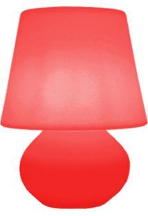Luminária Casa Da Mãe Joana Abajur Vermelho