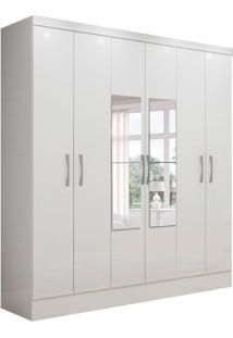 Guarda-Roupa Casal Com Espelho Marselha 6 Pt 2 Gv Branco
