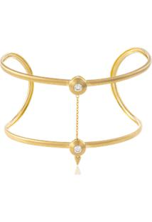 Bracelete Shine Double Amarelo C/ Diam Branco - U