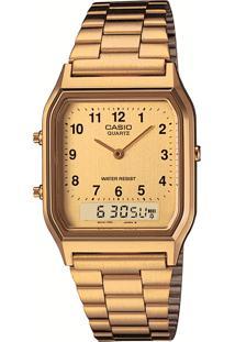 Relógio Analógico Casio Unissex - Aq230Ga9Bmqu Dourado