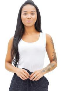 Body Feminino Liso Branco