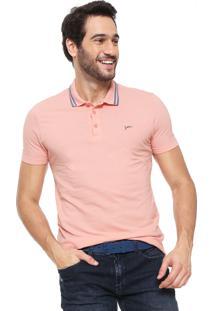 Camisa Polo Yachtsman Logo Rosa