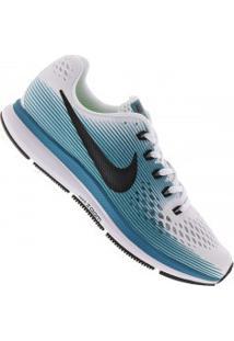 Tênis Nike Air Zoom Pegasus 34 - Masculino - Branco/Azul
