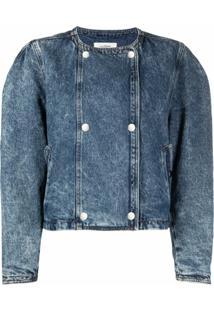 Isabel Marant Étoile Jaqueta Jeans Com Botões De Pressão - Azul