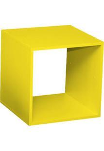 Nicho Quadrado Criado Mudo Amarelo L 40 X P 40 X A 40