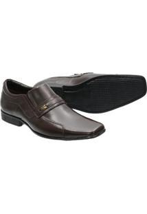Sapato Social Masculino Verniz Francalce Couro Legitimo - Masculino-Marrom