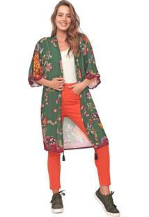 Kimono Mercatto Floral Verde