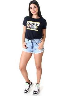 Shorts Jeans Opera Rock Feminino - Feminino-Azul Claro