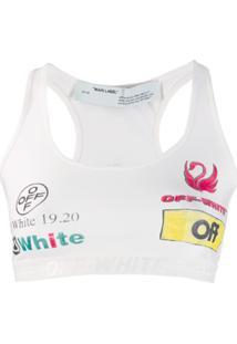 Off-White Blusa Com Estampa De Logo - Branco