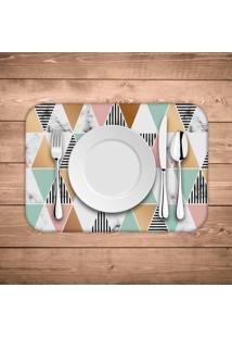 Jogo Americano Wevans Marble Triangle Kit Com 4 Pã§S - Multicolorido - Dafiti