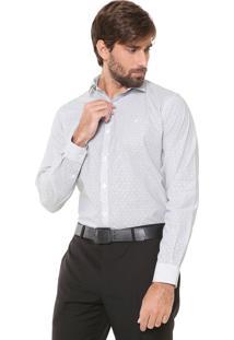 Camisa Ellus Reta Listras Branca/ Preta