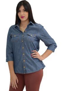 Camisa Energia Fashion Denim Azul