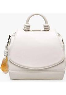 Mini Bolsa Paseo Krystallos Soleah - Feminino-Off White