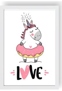 Quadro Love Decor Decorativo Infantil Unicorn Love