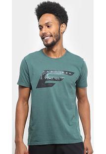 Camiseta Ellus Asa Rock Classic Masculina - Masculino-Musgo