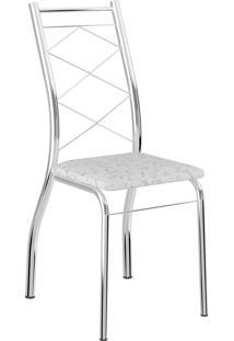 Kit 2 Cadeiras 1710 Tecil Fantasia Móveis Carraro Branco