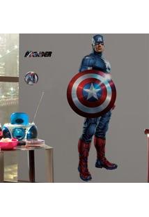 Adesivo De Parede Capitão América Gigante - Vingadores