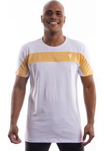 Camiseta Manga Curta Valks Gold Ribbon Branca