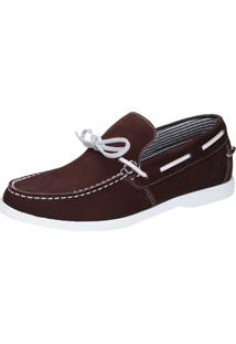 Mocassim Docksider Casual Moderno Magi Shoes Confortável Bordo