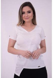 Blusa De Tricô Em Rayon Com Elastano Jéssi Feminina - Feminino