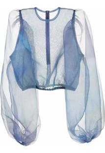 Beaufille Blusa Translúcida - Azul