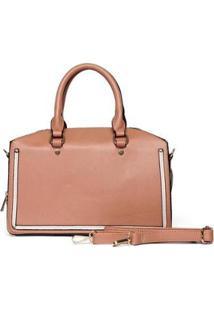 Bolsa Nice Bag Handbag Tiracolo Alça Fixa Feminina - Feminino-Marrom