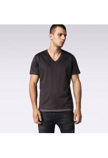 Camiseta Diesel T-Eric Masculina - Masculino-Cinza