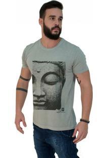 Camiseta Estonada Premium Face Buda Roxo - Masculino