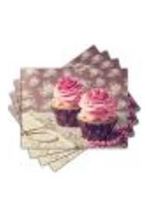 Jogo Americano - Cupcakes Com 4 Peças - 844Jo