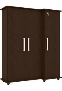 Armário Multiuso Jb 1001 Imbuia Touch 3 Portas - Jb Bechara
