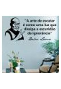 Adesivo De Parede Frase - Dalai Lama - A Arte De Escutar - Médio