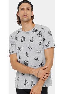 Camiseta Local Gola Careca Full Print Tattoo Masculina - Masculino