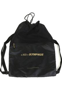 Mochila Olympikus Gym Sac Essential - Unissex-Preto+Dourado