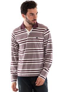Camisa Konciny Polo Malha Confort Vinho