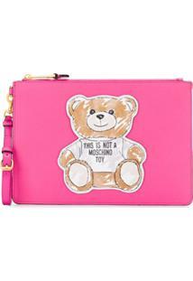 Moschino Clutch Teddy Bear - Rosa