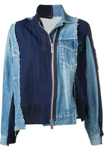 Sacai Deconstructed Zip Denim Jacket - Azul