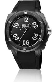 a0b7d76d080 ... Relógio Pulso Everlast Bold E681 Caixa Abs Pulseira Silicone - Masculino -Preto