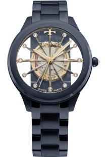 b9383db6c3a4a R  499,00. Zattini Relógio Feminino Azul Transparente Vidro Technos ...