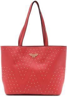 Bolsa Wonder Woman Logo Vermelho