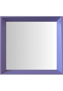 Espelho Moldura Madeira Lisa Fundo 16339 Lilás Art Shop