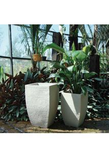 Vaso Quadrado Moderno 48 Japi Cimento
