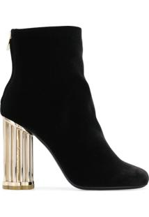 Salvatore Ferragamo Ankle Boot Salto Largo - Preto