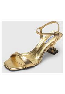 Sandália Cecconello Metalizada Dourada