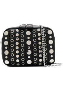 La Carrie Studded Shoulder Bag - Preto